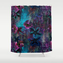 Haleiwa Tropical Purple Shower Curtain