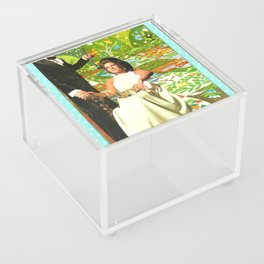 Utopia handcut collage Acrylic Box