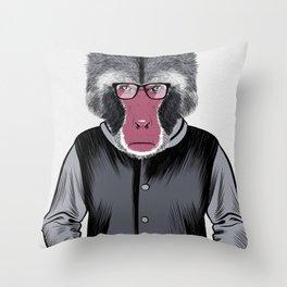 Simio intellectual Throw Pillow