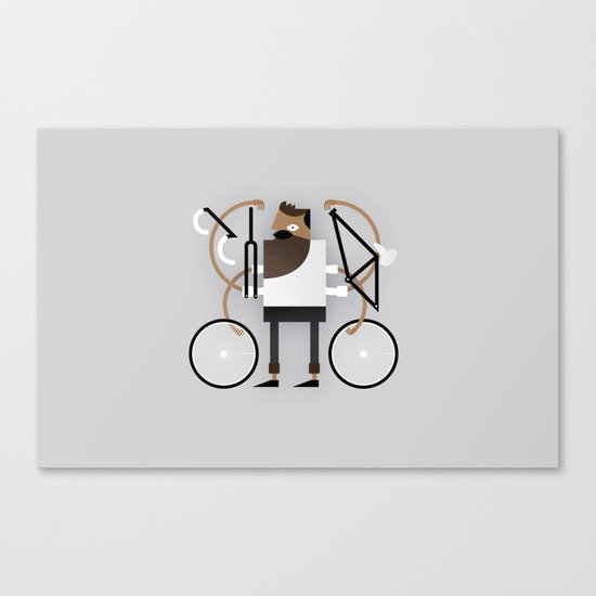 Back to Fixie Business Canvas Print