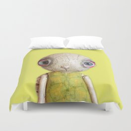 Sheldon The Turtle - Green Duvet Cover