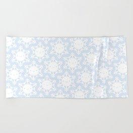 Kawaii Winter Snowflakes Beach Towel