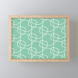 Bubble Pattern Mint #homedecor Framed Mini Art Print