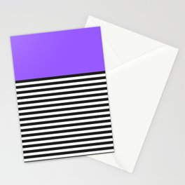 STRIPE COLORBLOCK {PURPLE} Stationery Cards