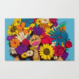 flowers for afro Canvas Print