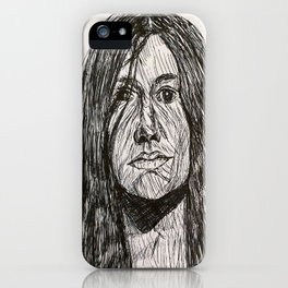 Psychedelic lines iPhone Case