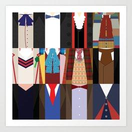 The 12 Doctors Art Print