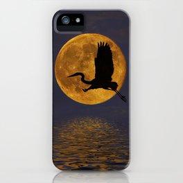 Heron & The Harvest Moon iPhone Case