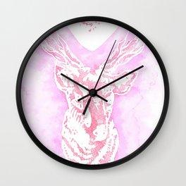 Louis' stag tattoo Wall Clock