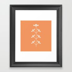 Red Sprig Framed Art Print