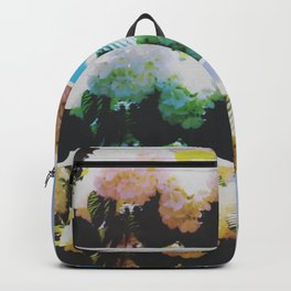 Faded Snowball Branch Collage (II) Backpack