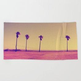 Four Palms In Paradise Beach Towel