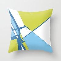 the wire Throw Pillows featuring High Wire by Ryan Johnson