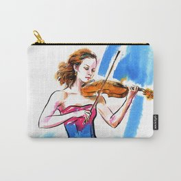 Girl playing the violin Carry-All Pouch