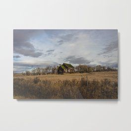 Berthelote School, Toole County, Montana Metal Print