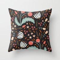Floral Fusion Throw Pillow