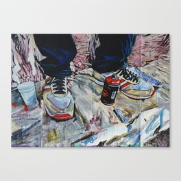 illegal street-art-worker Canvas Print