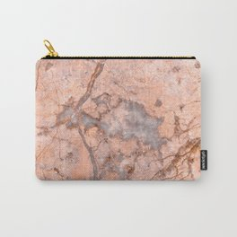 Peach Marble Carry-All Pouch