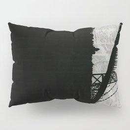 Paper City, Newspaper Bridge Collage Pillow Sham