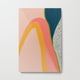 Colorful Abstract Textures Metal Print