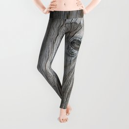 Real Aged Silver Wood Leggings