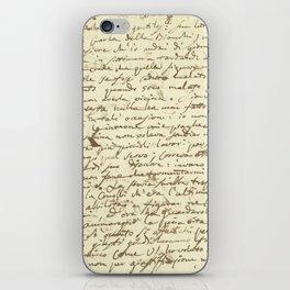 Original Paganini letter iPhone Skin