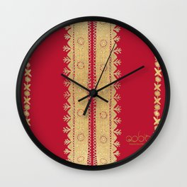Traditional Dress - Red Wall Clock