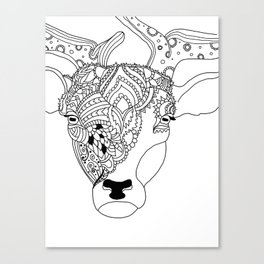 Deer with Style Canvas Print