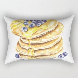 Pancake Stack Watercolor Painting Rectangular Pillow