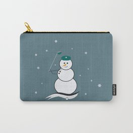 Golfing Snowman Carry-All Pouch