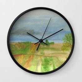 watercolor road Wall Clock