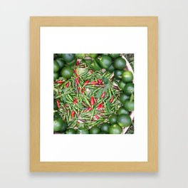 Small & Spicy Framed Art Print