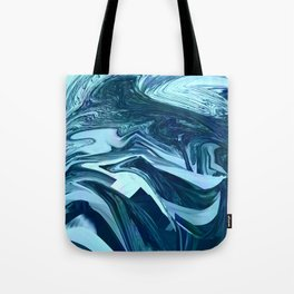 Turquoise + Teal Marble Tote Bag