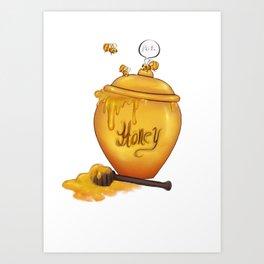 MisscannisbeesTees- Honey Pot  Art Print