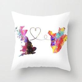 Britain to Burundi  Quote Art Design Inspirational Throw Pillow
