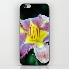 Lavender And Yellow Lily iPhone Skin