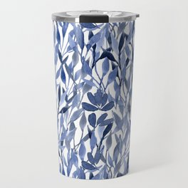 Indigo Leaves Travel Mug