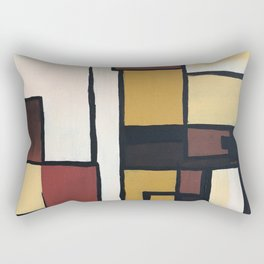 Composition with squares and rectangles Rectangular Pillow