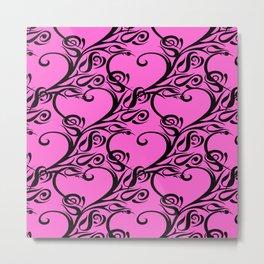 tribal heart rose pink Metal Print