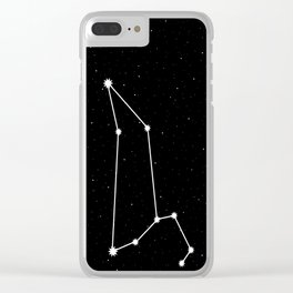 Leo Star Sign Night Sky Clear iPhone Case