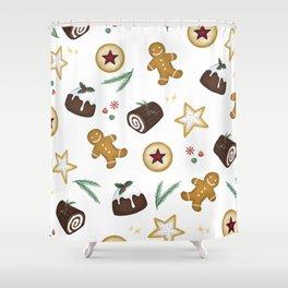 Holiday Treats Shower Curtain