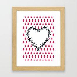Love you (variation 06) Framed Art Print