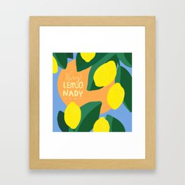 Very Lemonady Framed Art Print