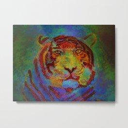 Psychedelic Tiger Metal Print