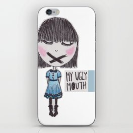 My Ugly Mouth iPhone Skin
