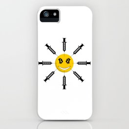 Smile Bitcoin Has Been Injected iPhone Case