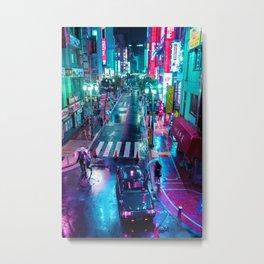 Lonely In Rainy Tokyo Metal Print