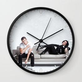 Demi and Nick #1 Wall Clock