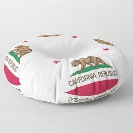 California Republic Flag - Bear Flag Floor Pillow