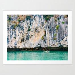 Fisherman in Halong Bay Fine Art Print  • Travel Photography • Wall Art Art Print